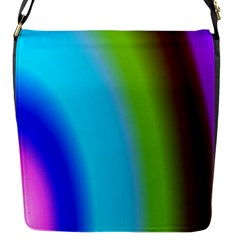 Multi Color Stones Wall Multi Radiant Flap Messenger Bag (S)