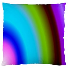 Multi Color Stones Wall Multi Radiant Large Flano Cushion Case (One Side)