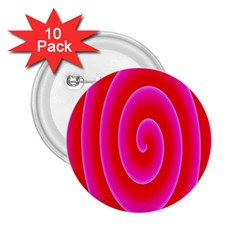 Pink Hypnotic Background 2 25  Buttons (10 Pack)