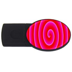 Pink Hypnotic Background USB Flash Drive Oval (2 GB)