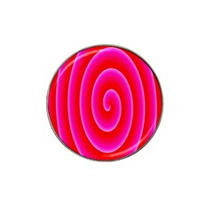 Pink Hypnotic Background Hat Clip Ball Marker (4 pack)