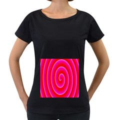 Pink Hypnotic Background Women s Loose-Fit T-Shirt (Black)