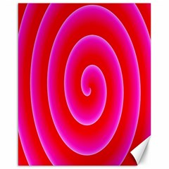 Pink Hypnotic Background Canvas 16  X 20