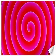Pink Hypnotic Background Canvas 20  X 20