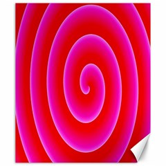 Pink Hypnotic Background Canvas 20  X 24