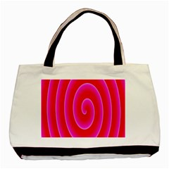 Pink Hypnotic Background Basic Tote Bag (two Sides)