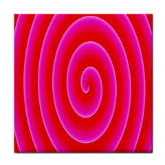 Pink Hypnotic Background Face Towel