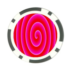 Pink Hypnotic Background Poker Chip Card Guard (10 Pack)