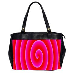 Pink Hypnotic Background Office Handbags (2 Sides)