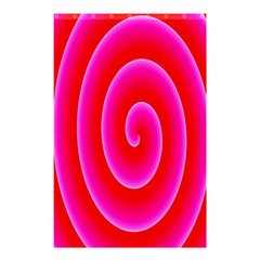 Pink Hypnotic Background Shower Curtain 48  x 72  (Small)