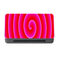 Pink Hypnotic Background Memory Card Reader with CF