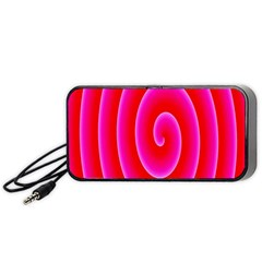Pink Hypnotic Background Portable Speaker (Black)