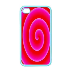 Pink Hypnotic Background Apple Iphone 4 Case (color)