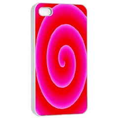 Pink Hypnotic Background Apple Iphone 4/4s Seamless Case (white)