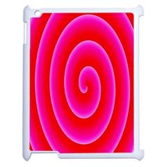 Pink Hypnotic Background Apple Ipad 2 Case (white)