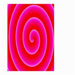 Pink Hypnotic Background Small Garden Flag (Two Sides)