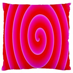 Pink Hypnotic Background Large Cushion Case (Two Sides)