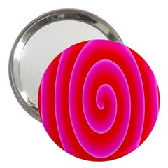 Pink Hypnotic Background 3  Handbag Mirrors