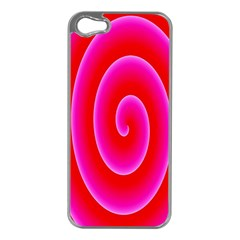 Pink Hypnotic Background Apple iPhone 5 Case (Silver)