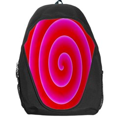 Pink Hypnotic Background Backpack Bag