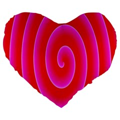 Pink Hypnotic Background Large 19  Premium Heart Shape Cushions