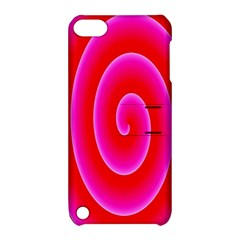 Pink Hypnotic Background Apple iPod Touch 5 Hardshell Case with Stand