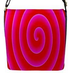 Pink Hypnotic Background Flap Messenger Bag (s)