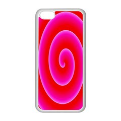 Pink Hypnotic Background Apple iPhone 5C Seamless Case (White)