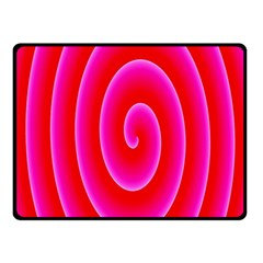 Pink Hypnotic Background Double Sided Fleece Blanket (Small)