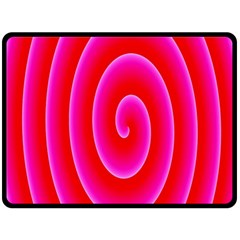 Pink Hypnotic Background Double Sided Fleece Blanket (Large)