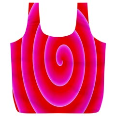Pink Hypnotic Background Full Print Recycle Bags (l)