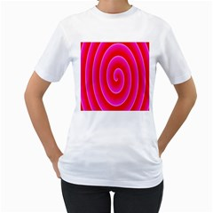 Pink Hypnotic Background Women s T-Shirt (White)