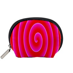 Pink Hypnotic Background Accessory Pouches (Small)