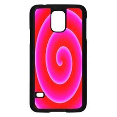 Pink Hypnotic Background Samsung Galaxy S5 Case (Black)