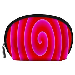 Pink Hypnotic Background Accessory Pouches (Large)