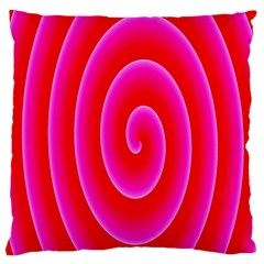Pink Hypnotic Background Standard Flano Cushion Case (Two Sides)