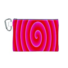Pink Hypnotic Background Canvas Cosmetic Bag (M)
