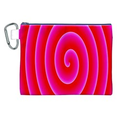 Pink Hypnotic Background Canvas Cosmetic Bag (XXL)