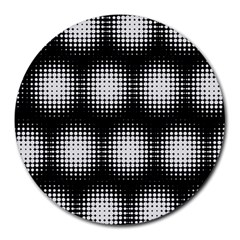 Black And White Modern Wallpaper Round Mousepads