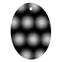 Black And White Modern Wallpaper Ornament (oval)
