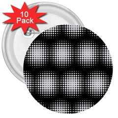 Black And White Modern Wallpaper 3  Buttons (10 pack)