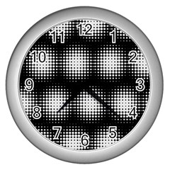 Black And White Modern Wallpaper Wall Clocks (silver)