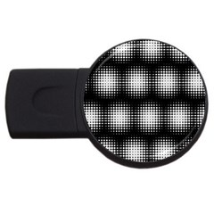 Black And White Modern Wallpaper USB Flash Drive Round (2 GB)
