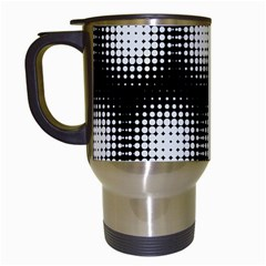 Black And White Modern Wallpaper Travel Mugs (white)