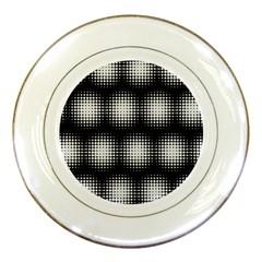 Black And White Modern Wallpaper Porcelain Plates