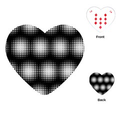 Black And White Modern Wallpaper Playing Cards (Heart)