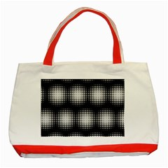 Black And White Modern Wallpaper Classic Tote Bag (red)