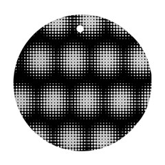 Black And White Modern Wallpaper Round Ornament (two Sides)