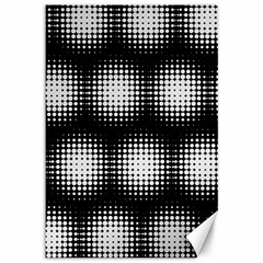 Black And White Modern Wallpaper Canvas 12  X 18