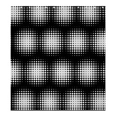 Black And White Modern Wallpaper Shower Curtain 66  X 72  (large)